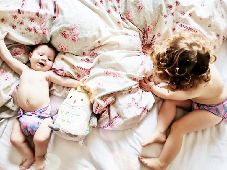 two in cloth nappies